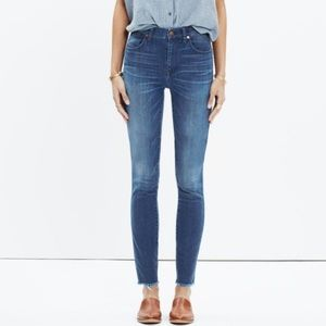 Madewell high rise crop skinny jeans size 29